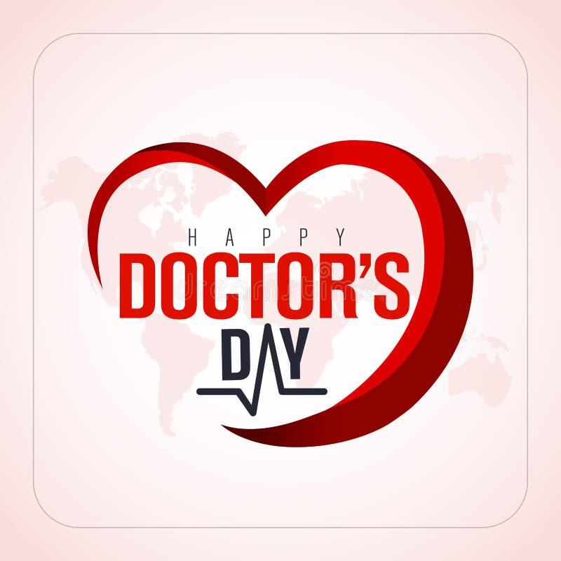 30 de marzo, Day del mundo del doctor tarjeta de felicitación del concepto, los doctores nacionales Day Template caloría ilustración del vector