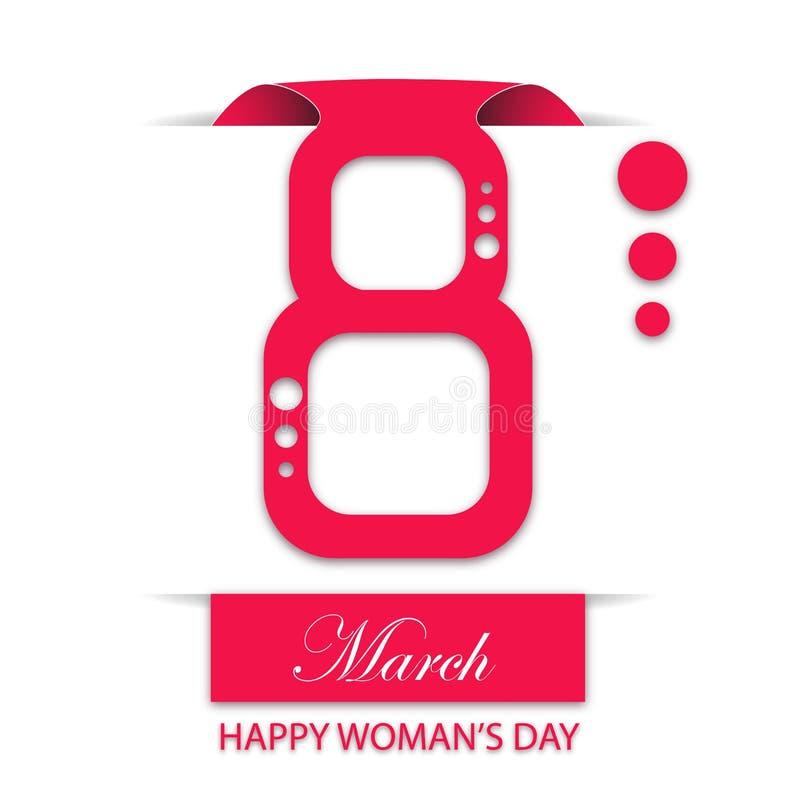 8 de marzo el día de ocho mujeres ilustración del vector