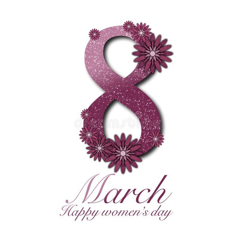 8 de marzo en flores fotos de archivo