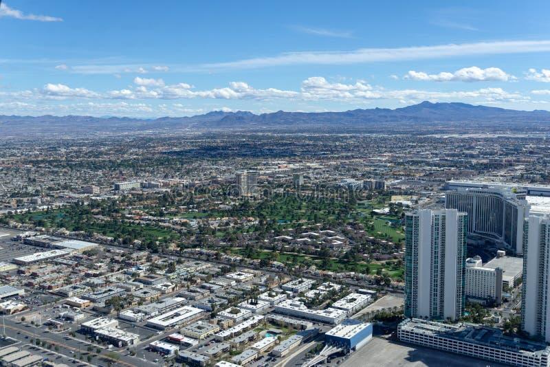 3 de marzo de 2019 - Las Vegas, Nevada - el top del restaurante del mundo - El COMIENZO imagen de archivo