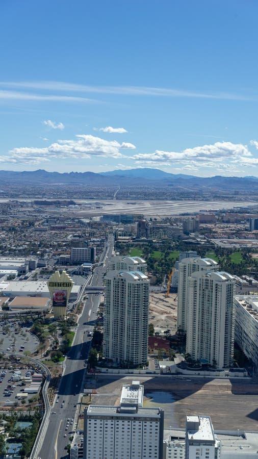 3 de marzo de 2019 - Las Vegas, Nevada - el top del restaurante del mundo - El COMIENZO imágenes de archivo libres de regalías