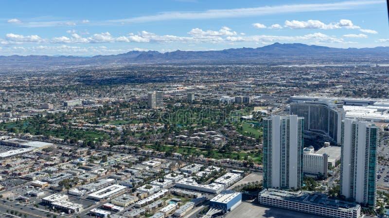 3 de marzo de 2019 - Las Vegas, Nevada - el top del restaurante del mundo - El COMIENZO fotografía de archivo libre de regalías