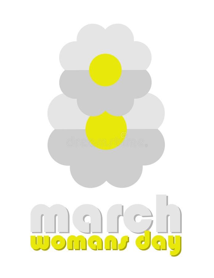 8 de marzo, mundo del drenaje del día de la mujer ilustración del vector