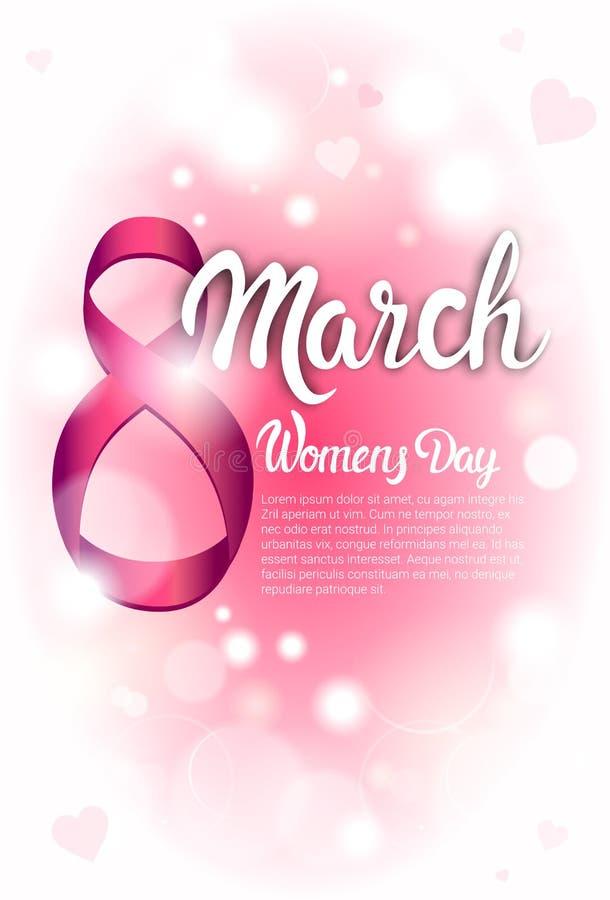 8 de marzo tarjeta de felicitación internacional del día de las mujeres libre illustration