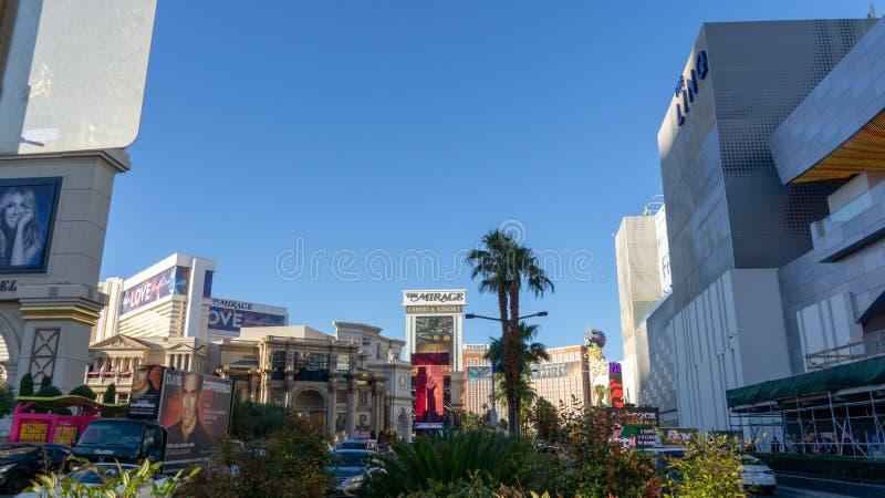 3 de marzo de 2019 - tira de Las Vegas, Nevada - de Las Vegas fotografía de archivo libre de regalías