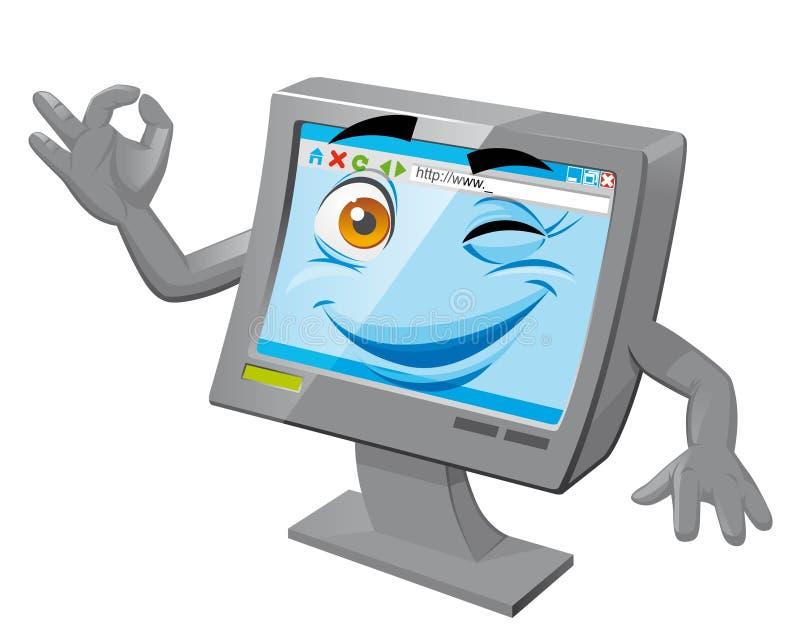De mascotte van de computer royalty-vrije illustratie