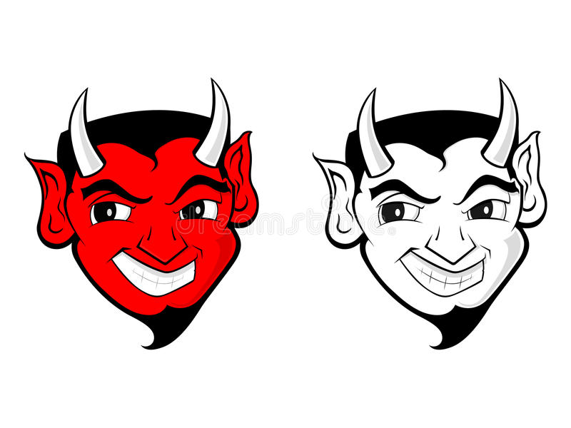 DE MASCOTTE VAN DE DUIVEL/VAN DE DEMON stock illustratie