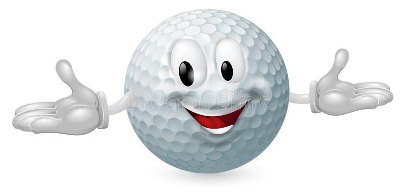 De Mascotte van de golfbal vector illustratie