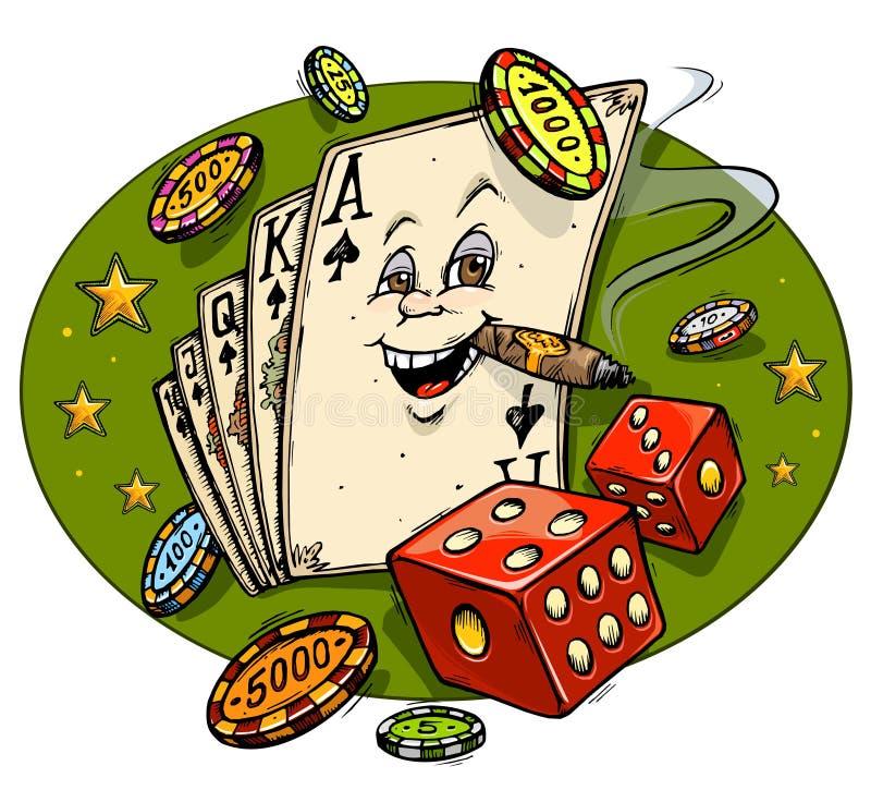 De Mascotte van het Beeldverhaal van het casino royalty-vrije illustratie
