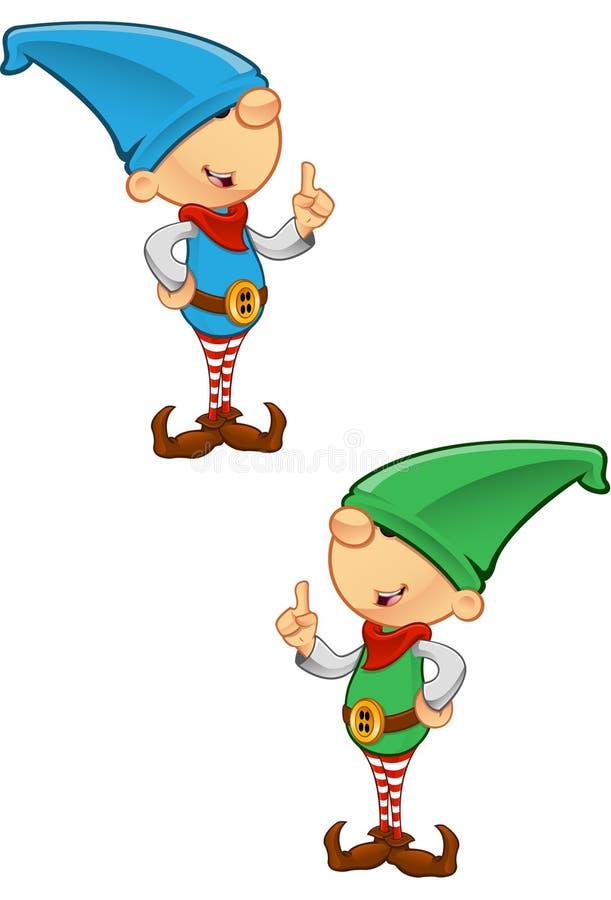 De Mascotte van het elf - Hebbend een Idee royalty-vrije illustratie