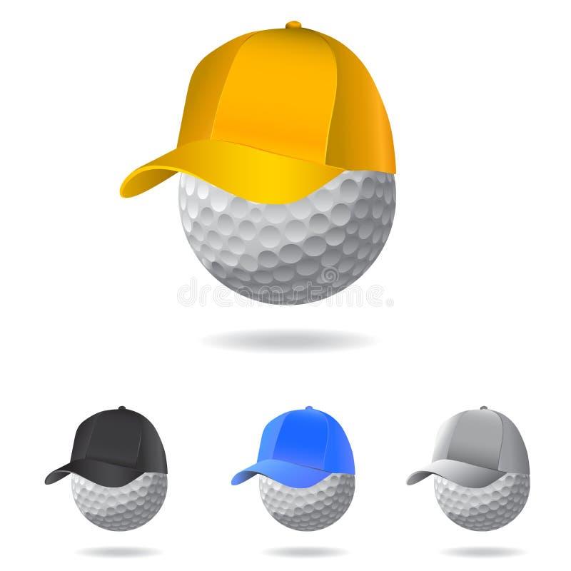De mascotte van het golf vector illustratie