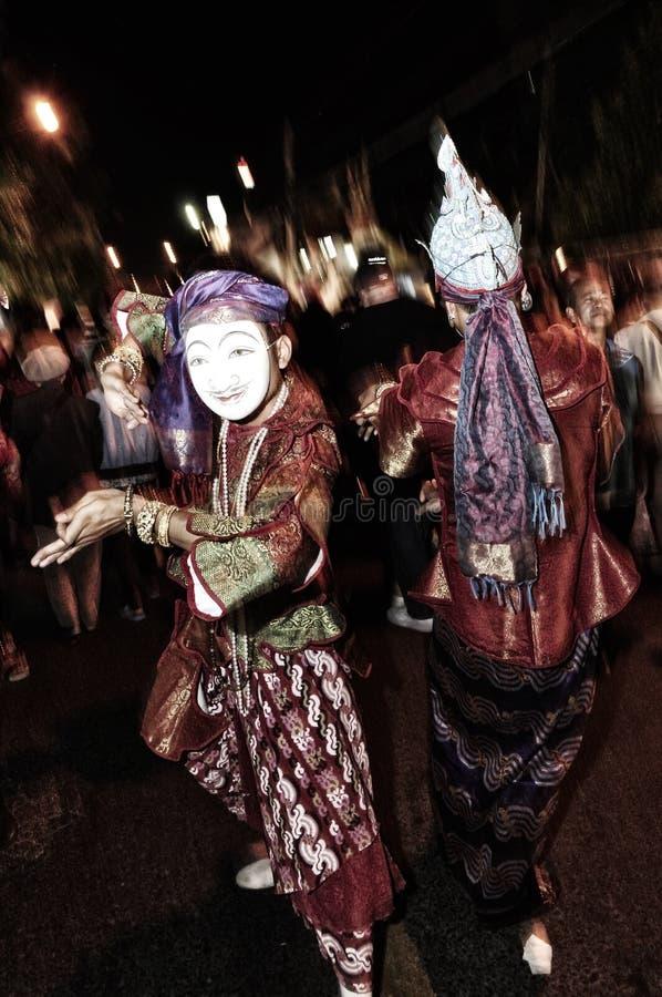 De maskermens toont royalty-vrije stock foto's