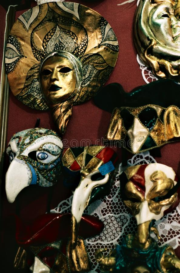 De maskers N°1 van Venetië Carnaval stock fotografie