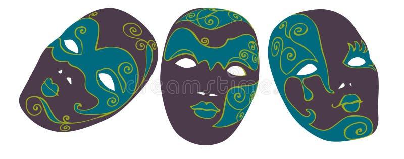 De maskers van Carnaval vector illustratie