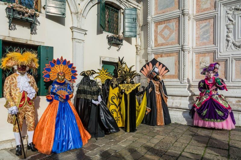 De maskers van Carnaval in Venetië Carnaval van Venetië is een jaarlijks die festival in Venetië, Italië wordt gehouden Het festi stock afbeeldingen