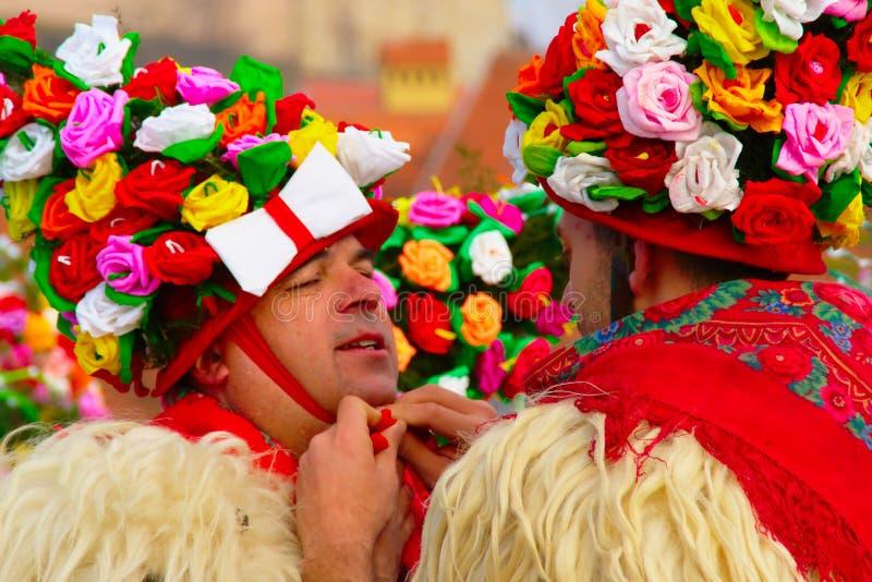 De Maskers van Carnaval van Zvonč ari royalty-vrije stock afbeelding