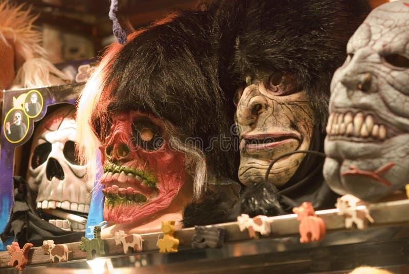 De maskers van Halloween stock afbeelding
