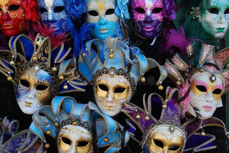 De Maskers van Venetië royalty-vrije stock afbeeldingen