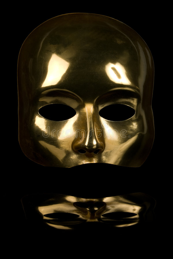 de masque d'or de visage demi photo libre de droits