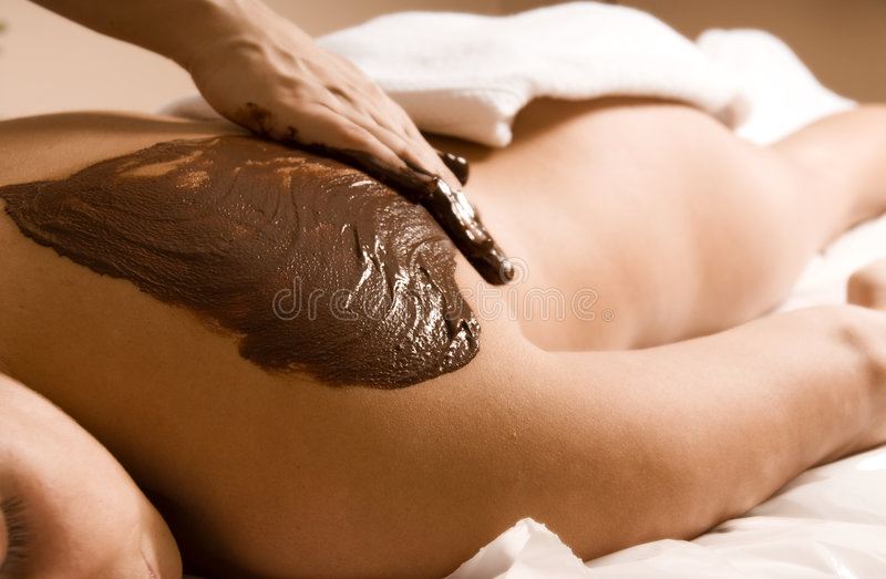 De massage van de cacao stock afbeelding