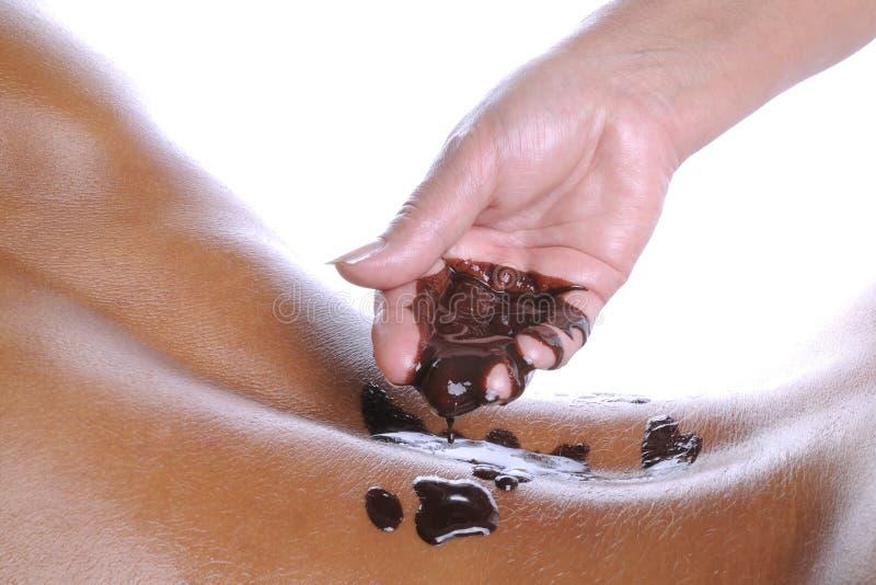De massage van de chocolade royalty-vrije stock afbeelding