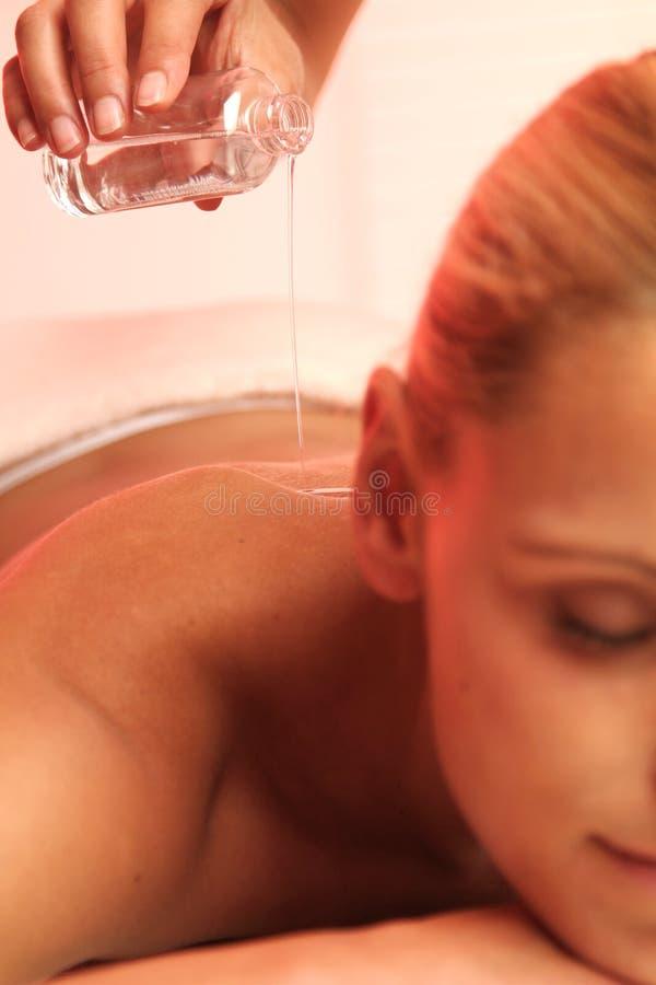 De Massage van de olie royalty-vrije stock foto's