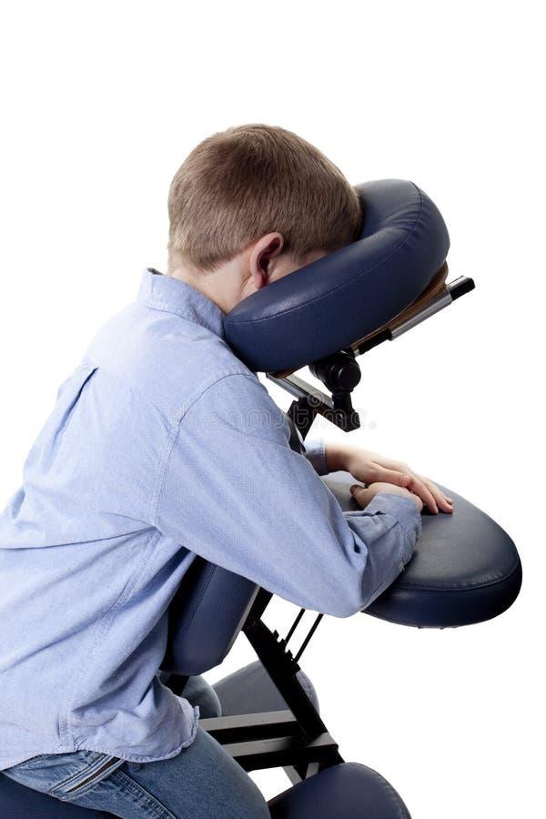 De massage van de stoel royalty-vrije stock fotografie