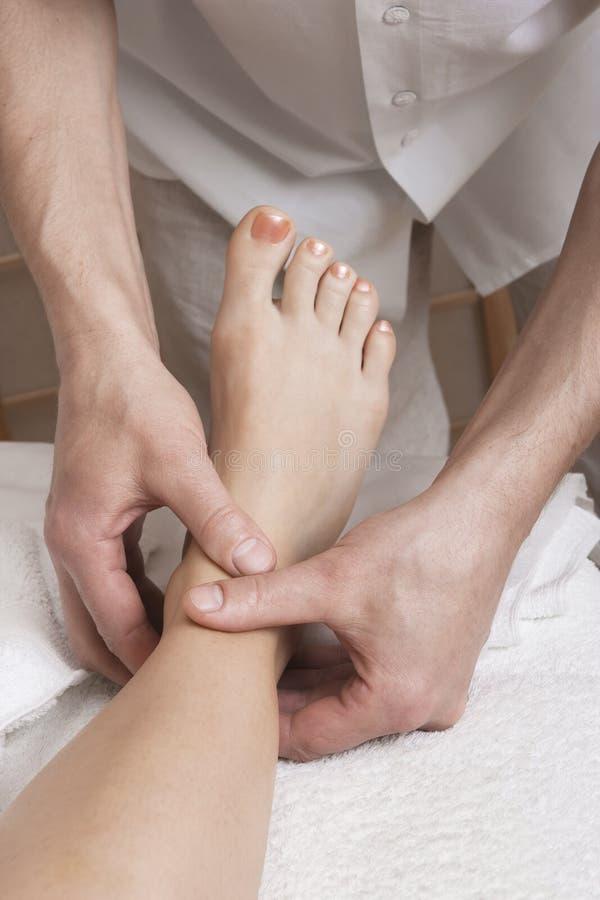 De massage van de voet stock foto