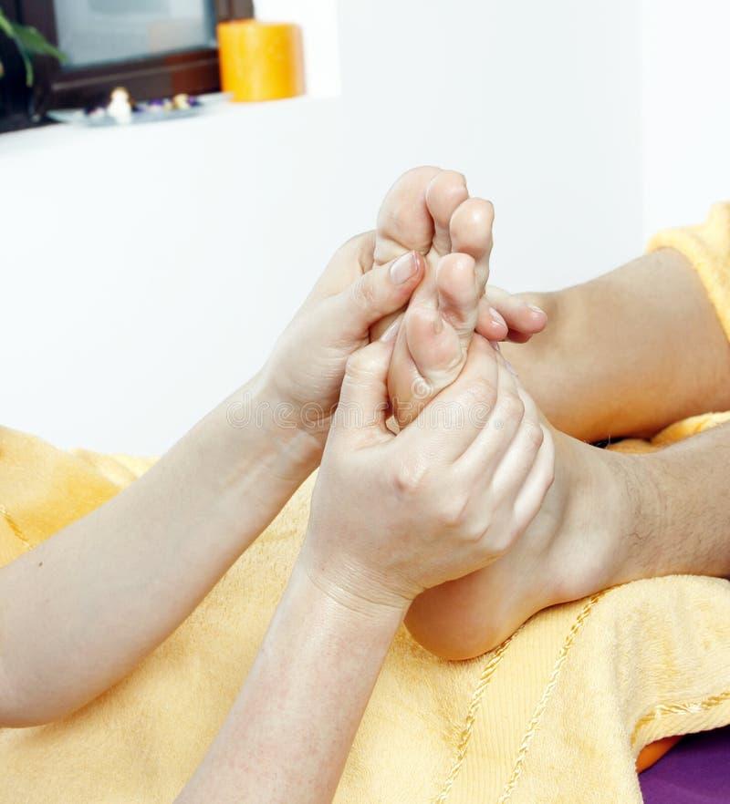 De massage van de voet stock afbeelding