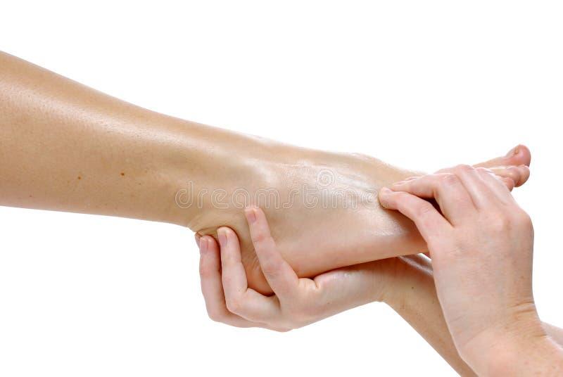 De massage van de voet stock fotografie