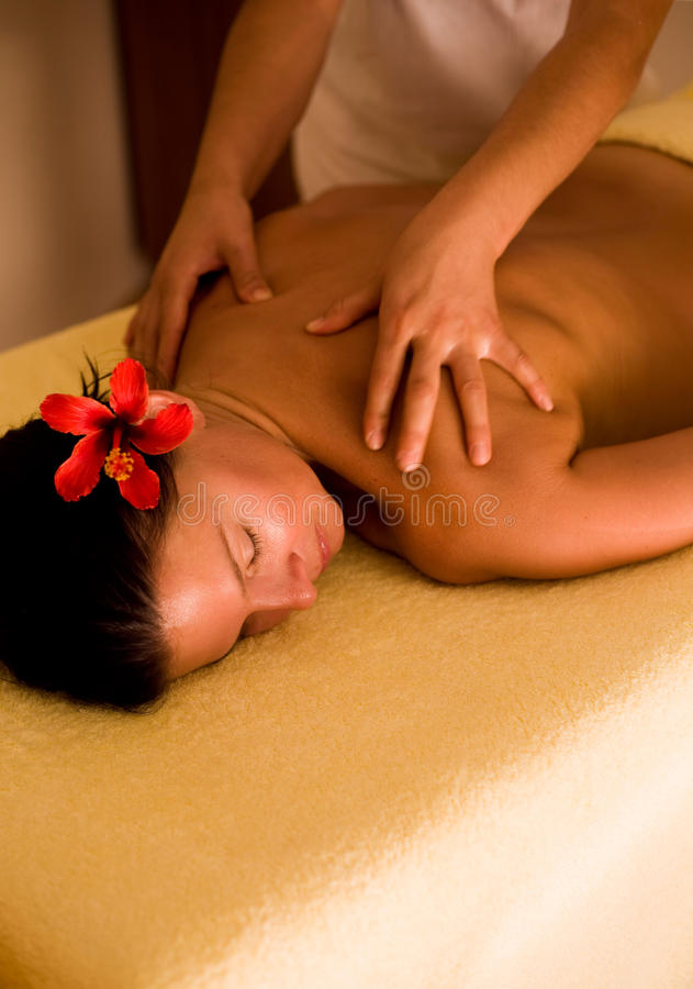 De massage van het kuuroord royalty-vrije stock afbeelding