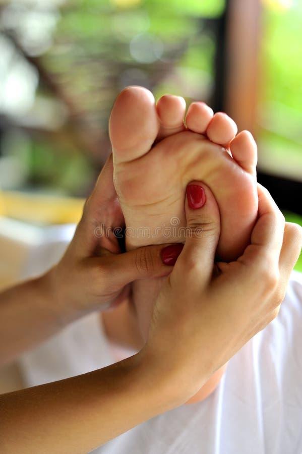 De massage van het kuuroord stock afbeelding