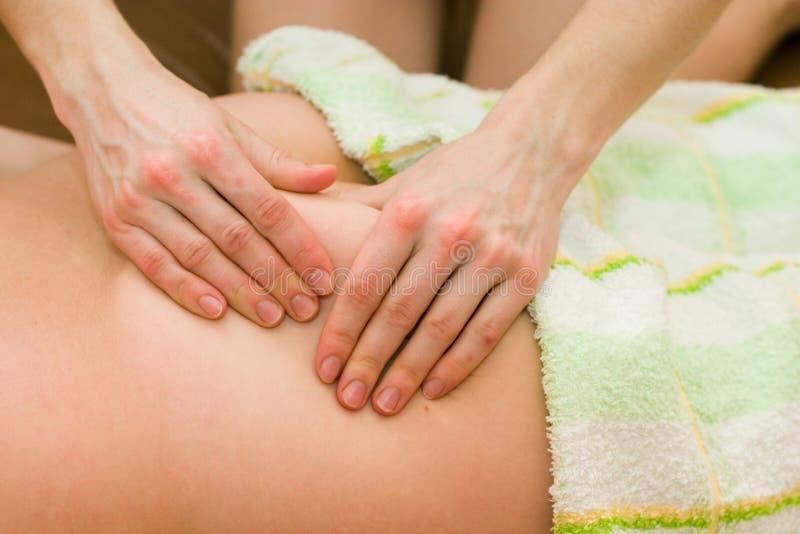 De massage van het lichaam stock afbeelding