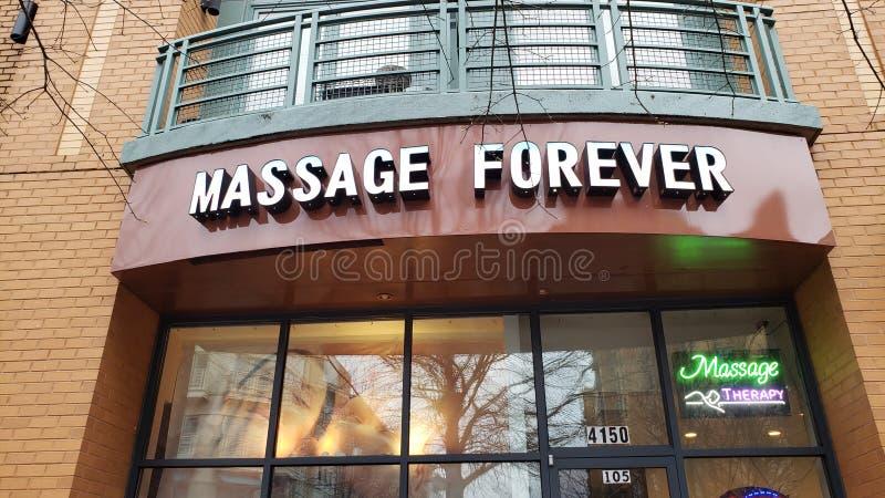 4/1/19 de massagem para sempre Shirlington VA foto de stock