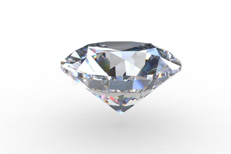 De massieve Ronde Euro Diamant van de Besnoeiing vector illustratie