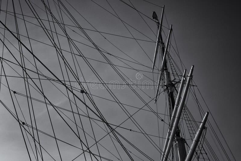 De mast van de boot royalty-vrije stock afbeeldingen