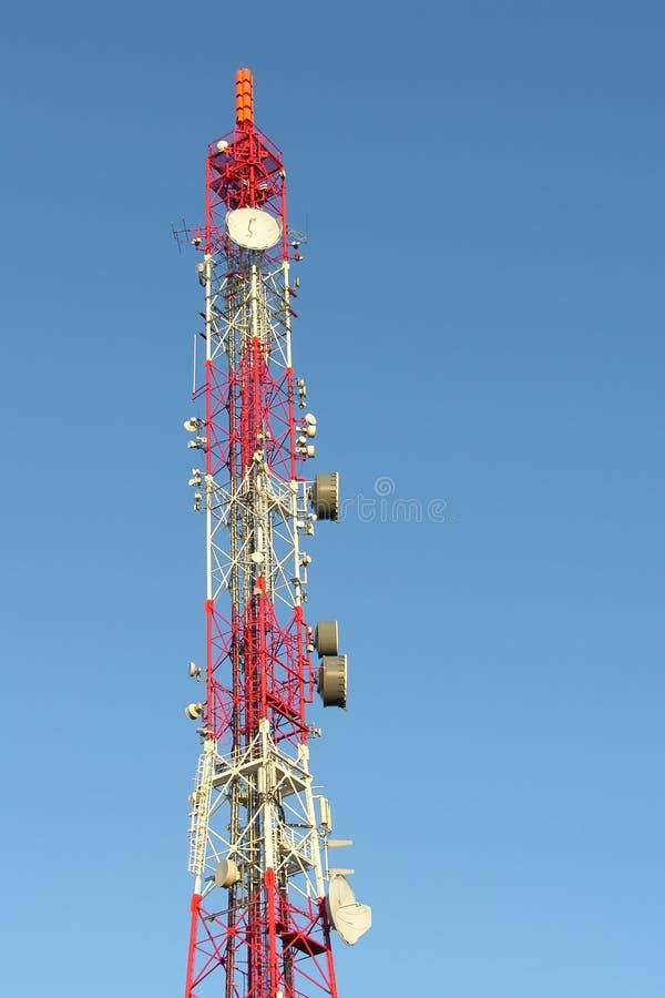 De mast van de zender stock foto's