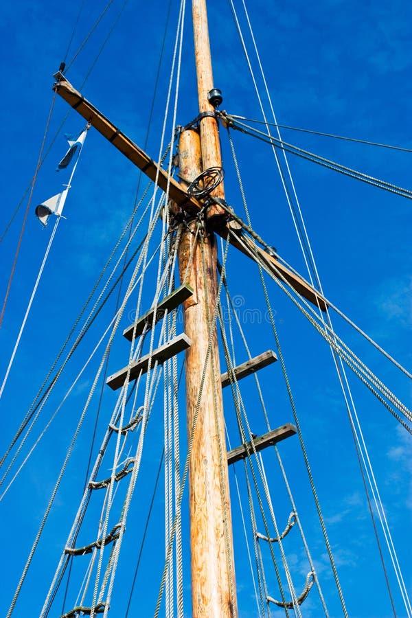 De mast van het schip stock afbeeldingen
