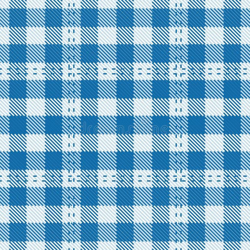 De Mat van de Lijst van het geruite Schotse wollen stof stock illustratie