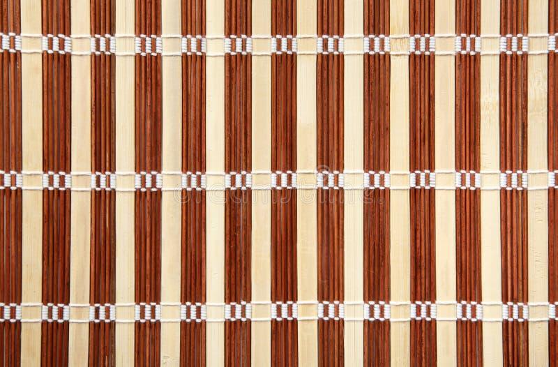 De mat van het bamboe stock afbeelding