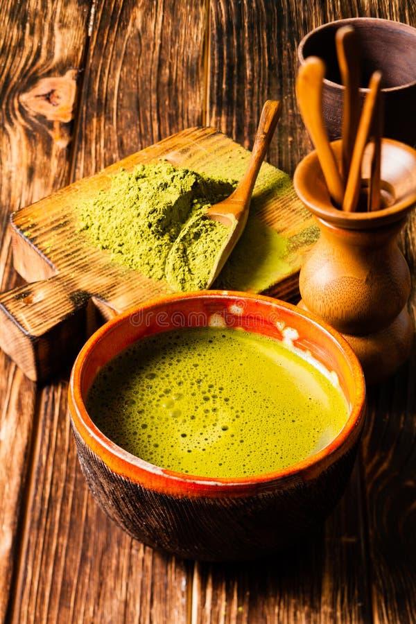 De Matcha do chá vida ainda fotos de stock