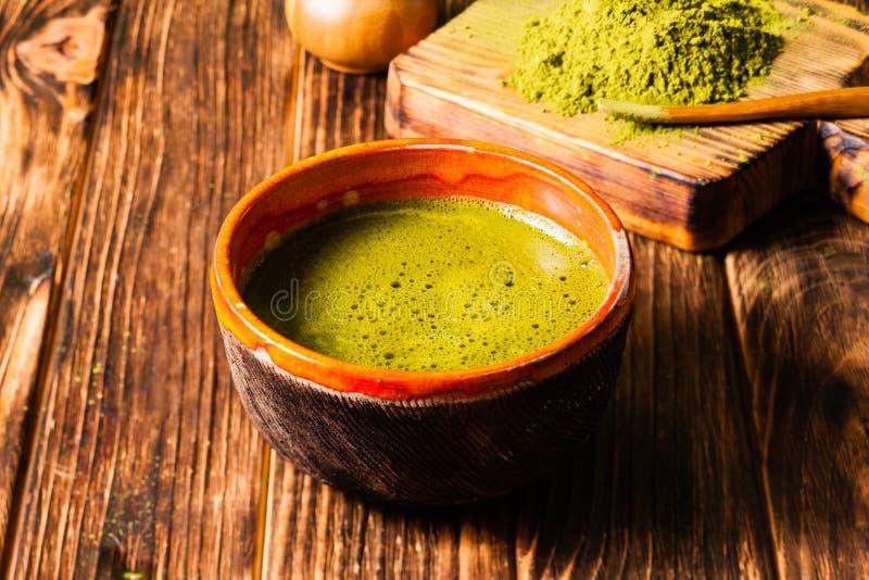 De Matcha do chá vida ainda fotografia de stock