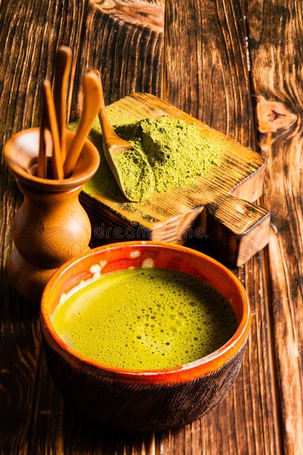 De Matcha do chá vida ainda foto de stock