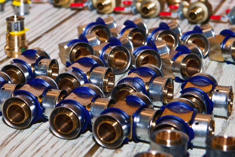 De materialen van het loodgieterswerk royalty-vrije stock afbeelding