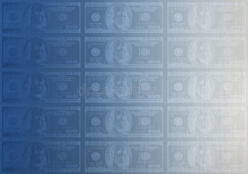 De matrijs van de plaat 100$ vector illustratie