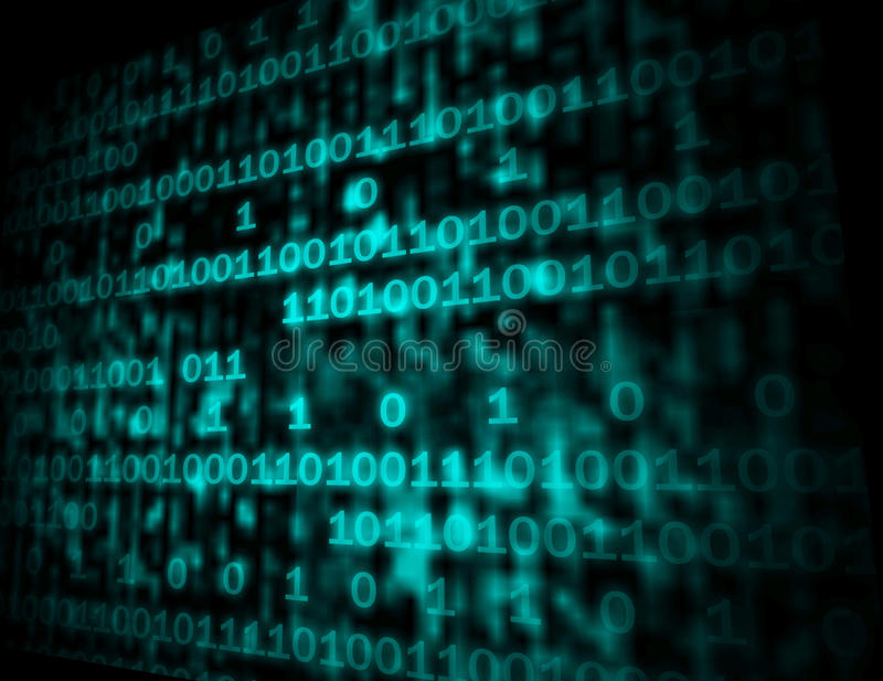 De matrijscode Copyspace toont Digitale Aantallen Programmerend Backgrou stock illustratie