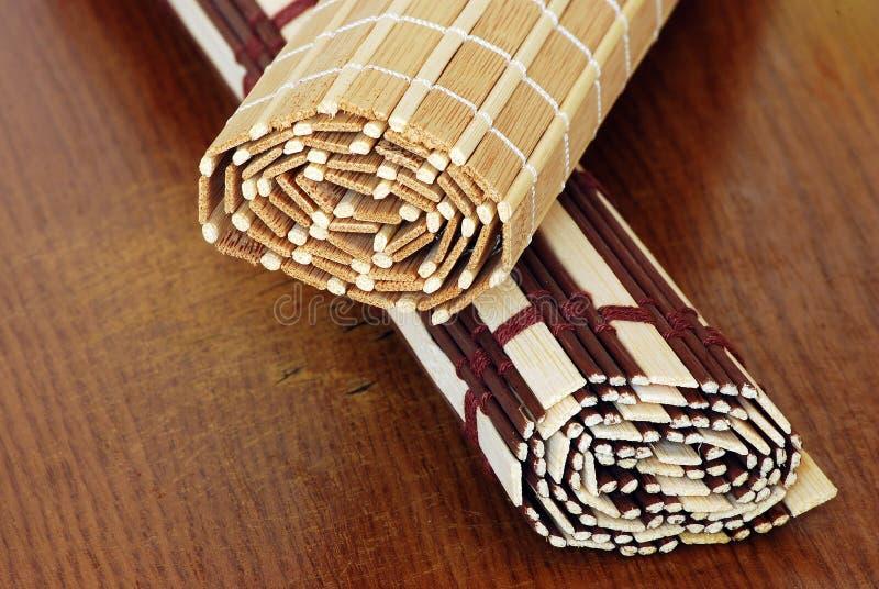 De matten van het bamboe royalty-vrije stock foto's
