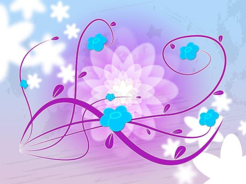 De mauve Achtergrond wijst Bloemblaadjes op Purple en Bloemblaadje royalty-vrije illustratie
