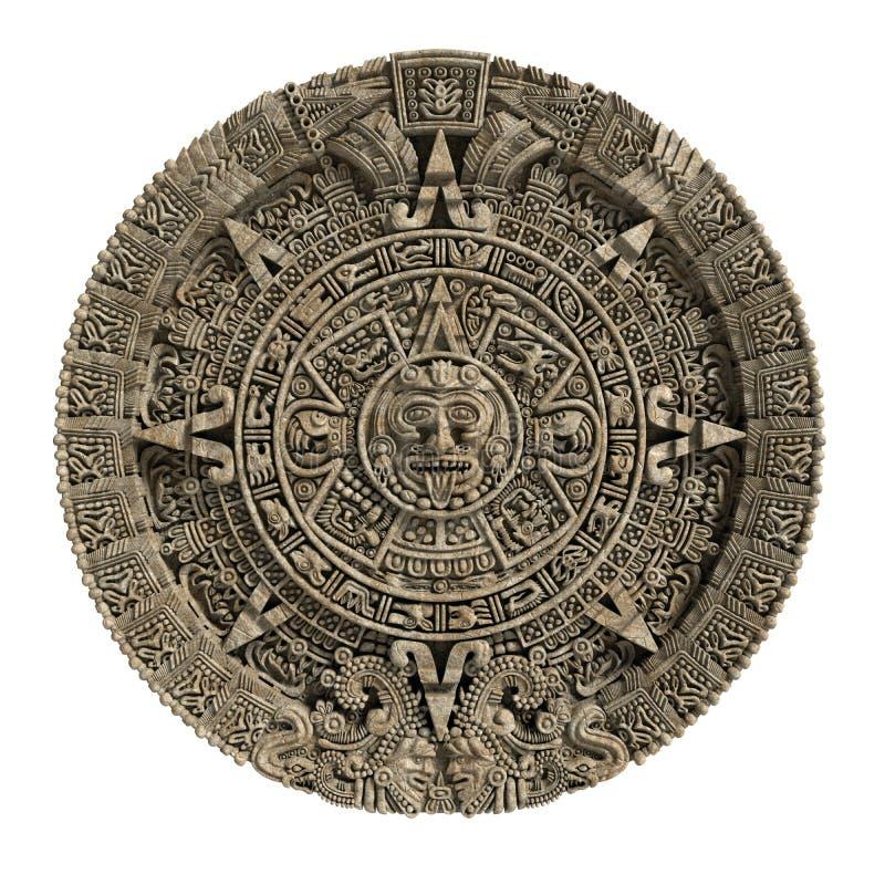 De Mayan kalender royalty-vrije illustratie
