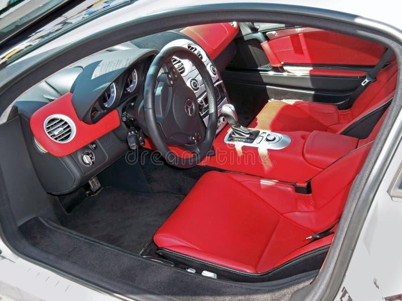 21 de mayo de 2011, KIEV - Ucrania Salón Mercedes SLR McLaren del coche fotos de archivo